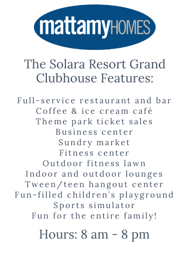 Solara Resort Clubhouse Amenities